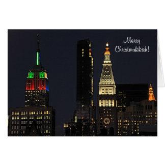 De Staat Bldg van het Imperium NYC in de kleuren Briefkaarten 0