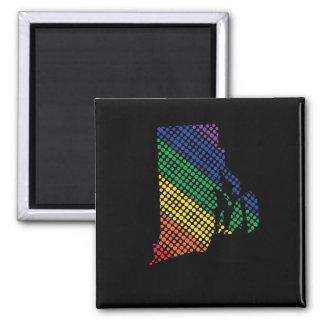 De Staat van de Regenboog van Rhode Island Magneet