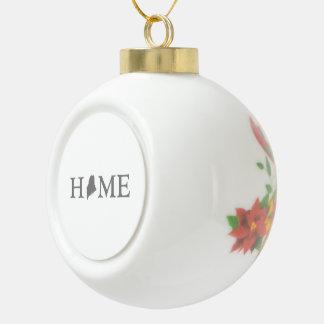 De Staat van het Huis van Maine Keramische Bal Ornament