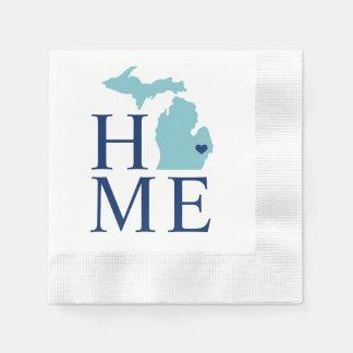 De Staat van het huis van Michigan | Hart van de Wegwerp Servet