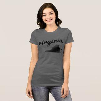 De Staat van Virginia op het Grijs van Dames T Shirt