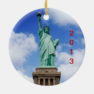 De Stad 2013 van New York Rond Keramisch Ornament