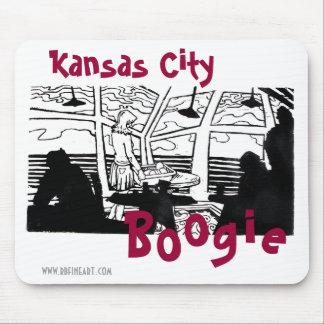 De Stad Boogie Mousepad van Kansas Muismat