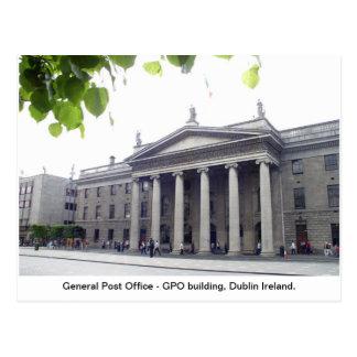 De stad Ierland van GPO Dublin Briefkaart