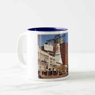 De stad in, Elizabeth, de Wijnoogst van New Jersey Tweekleurige Koffiemok