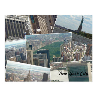 De Stad Manhattan Multiview van New York Briefkaart