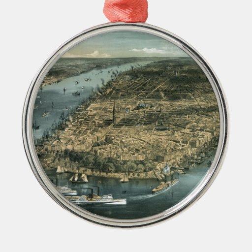 De stad New-York In 1856 door Charles Parsons Kerst Ornamenten