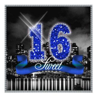 De stad steekt Zoete Zestien Blauwe ID118 aan Kaart