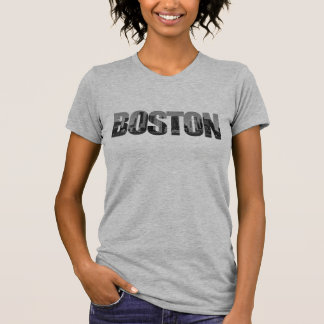 De Stad van Boston (het Knippen de Tekst van het T Shirt