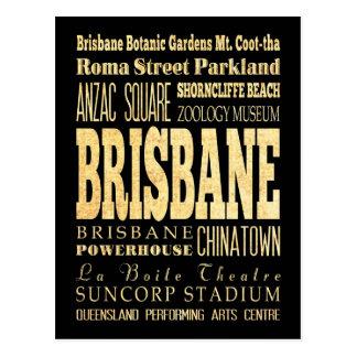 De Stad van Brisbane van het Art. van de Briefkaart