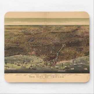 De stad van Chicago door Ives (1892) Muismatten