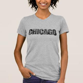 De Stad van Chicago (het Knippen de Tekst van het T Shirt