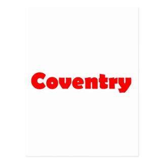 De stad van Coventry van Engeland Briefkaart
