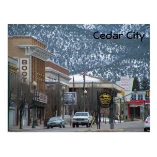 De Stad van de ceder Briefkaart