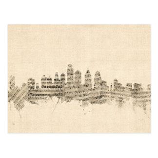 De Stad van de Muziek van het Blad van de Horizon Briefkaart