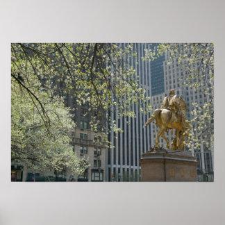 De Stad van de V.S., New York, New York, Manhattan Poster