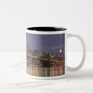 De Stad van de V.S., New York, New York, Tweekleurige Koffiemok