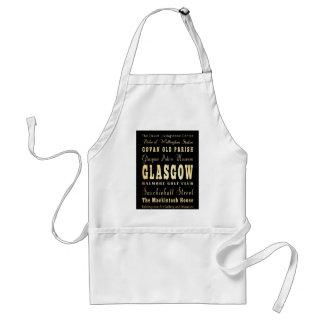 De Stad van Glasgow van het Art. van de Typografie Standaard Schort