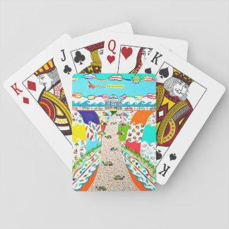 De Stad van het Eiland van het zee, de Kaarten van Poker Kaarten