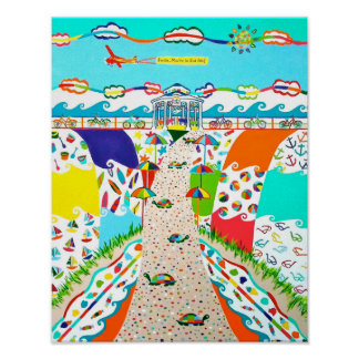 De Stad van het Eiland van het zee, Poster 11 x 14