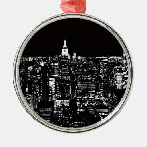 De Stad van New York bij Nacht Kerst Ornamenten