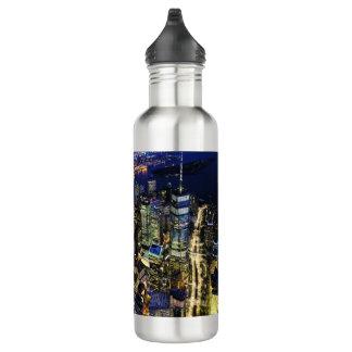 De Stad van New York bij Nacht Waterfles