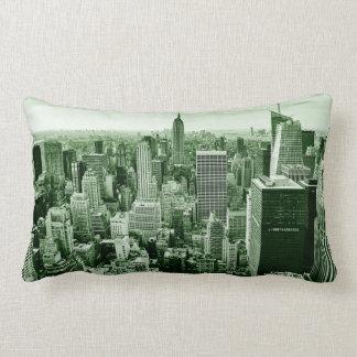 De Stad van New York - Manhattan - Wijnoogst Lumbar Kussen