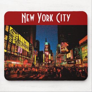 De Stad van New York (Neon) Mousepad Muismat