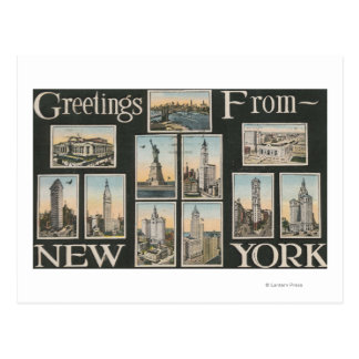 De Stad van New York, Nieuwe YorkGreetings Briefkaart