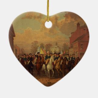 De Stad van New York van de Ingang van Washington Keramisch Hart Ornament
