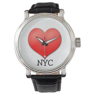 De Stad van New York van de liefde (NYC) Horloge
