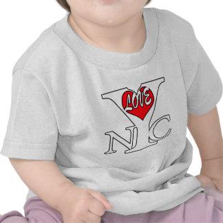De Stad van New York van de liefde, rwb T Shirt