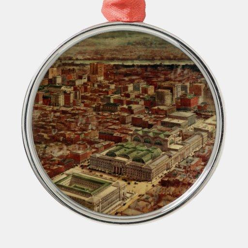 De Stad van New York van de Post van Pennsylvania  Ornamenten