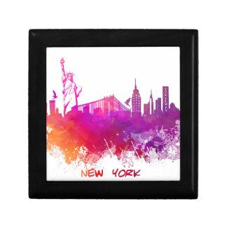 De Stad van New York Vierkant Opbergdoosje Small