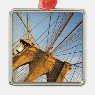 De Stad van New York Zilverkleurig Vierkant Ornament