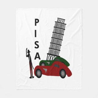 De Stad van Pisa Fleece Deken