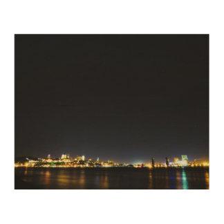 De Stad van Quebec tijdens het Houten Canvas van