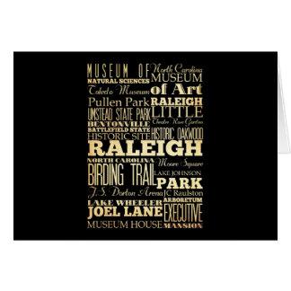 De Stad van Raleigh van De Typografie van de Staat Kaart