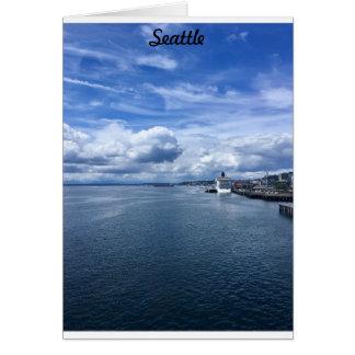 De Stad van Seattle Wenskaart