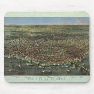 De stad van St.Louis Missouri van 1874 Muismatten