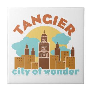 De Stad van Tanger van Wonder Keramisch Tegeltje