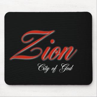 De stad van Zion van God Muismat