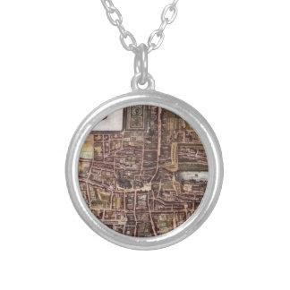 De stadskaart van de replica van Den Haag 1649 Ketting Rond Hangertje