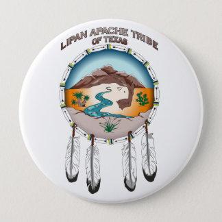De Stam van Apache van Lipan van Texas 4 Duim om Ronde Button 4,0 Cm