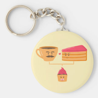 De Stamboom van Cupcake - Keychain Basic Ronde Button Sleutelhanger