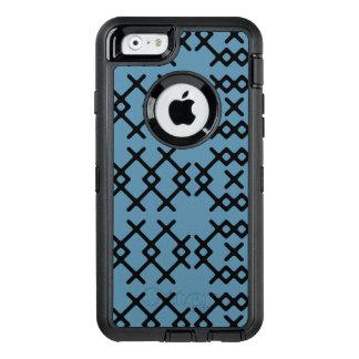 De stammen Blauwe Geometrische Vormen van de OtterBox Defender iPhone Hoesje