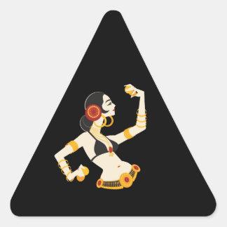 de stammen danser van de fusiebuik met sticker