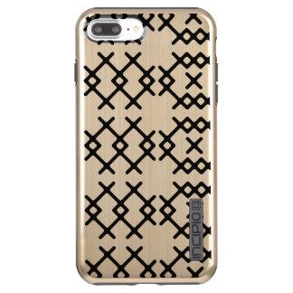 De stammen Gouden Geometrische Vormen van de Incipio DualPro Shine iPhone 8/7 Plus Hoesje