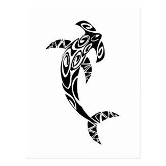 De stammen Illustratie van de Haai Hammerhead Briefkaart