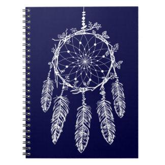De stammen Marineblauwe Inheemse Amerikaanse Ringband Notitieboek
